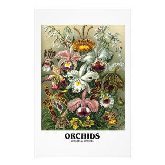 Orchids (Artforms av naturen) Anpassade Brevpapper