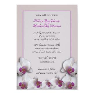 Orchids som gifta sig inbjudan