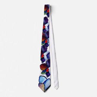 OrchidTie för två blått med vitbakgrund Slips