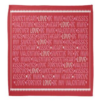Ord av kärlekbandanaen bandanas