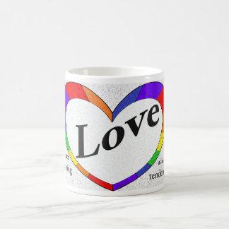 Ord av kärlekmuggen kaffemugg