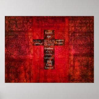 ORD AV modern kristen KONST för TRO Poster