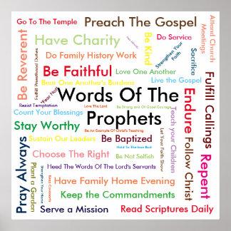 Ord av profetaffischen poster