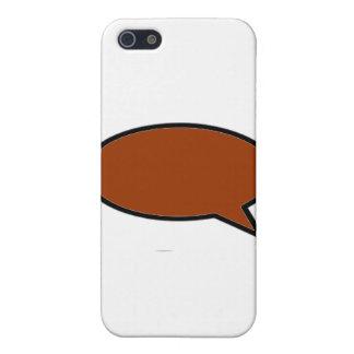 Ord bubblar rätt brunt de MUSEUMZazzle gåvorna iPhone 5 Skydd