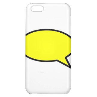Ord bubblar rätt gult de MUSEUMZazzle gåvorna iPhone 5C Mobil Fodral