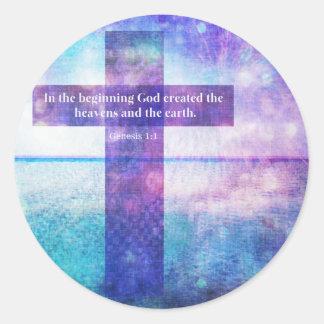 Ord för citationstecken för Galatians 5:22bibel Runt Klistermärke