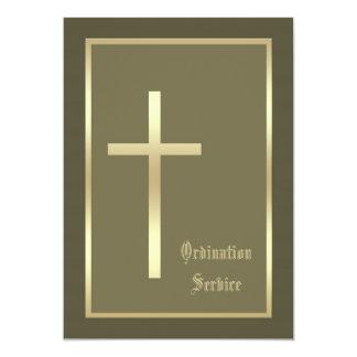 Ordainee som ska överförs prästvigninginbjudan 12,7 x 17,8 cm inbjudningskort