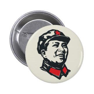 OrdförandeMao porträtt Standard Knapp Rund 5.7 Cm