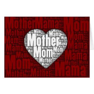 Ordkonst: Valentin för mor Hälsningskort