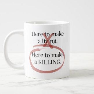 Ordna till för att personifiera muggen för kaffe jumbo mugg