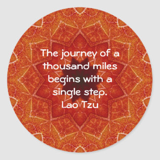 Ordstäv för Quotation för laotisk Tzu vishet Runt Klistermärke