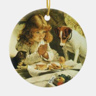 Ordstäv våra böner, spänningCharles Burton Julgransprydnad Keramik