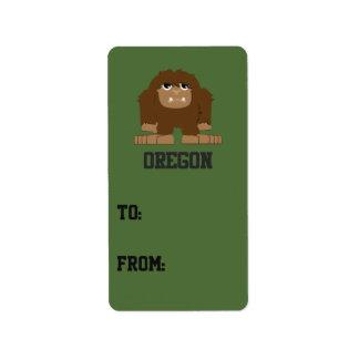 Oregon Bigfoot Adressetikett