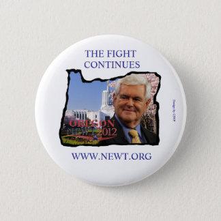 Oregon för Newt Gingrich klämmer fast Standard Knapp Rund 5.7 Cm