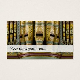 Organ leda i rör visitkorten - dekorerat rör visitkort