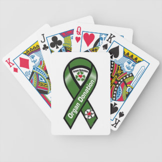 Organdonation som leker kort spelkort