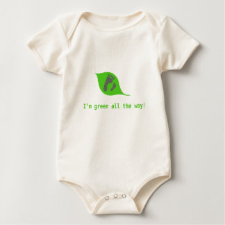 Organisk bebisromper: grönt hela vägen! krypdräkt