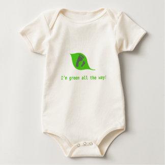 Organisk bebisromper: grönt hela vägen! sparkdräkt