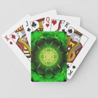 Organisk grön Mandala Spelkort