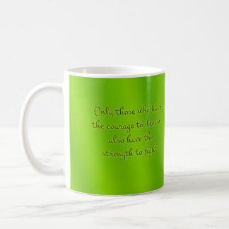 Organisk grön Mandala Vit Mugg
