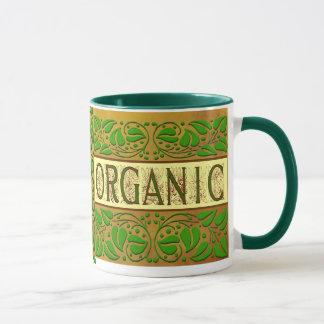 Organisk grön slogankaffemugg mugg