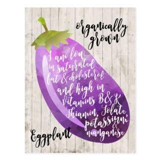 organisk konst för aubergineaubergine vykort