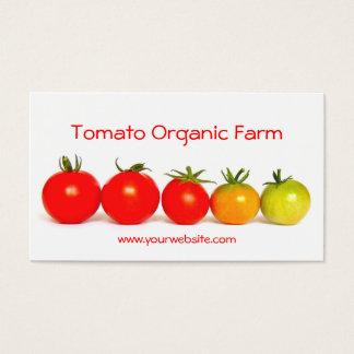 Organisk lantgård för tomat visitkort