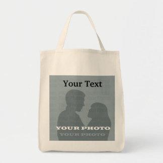 Organisk livsmedeltoto din foto- & textmall kasse