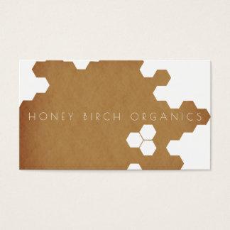 Organisk naturlig affär för honungskaka | visitkort