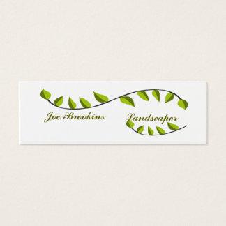 Organisk naturlig grön lövillustration litet visitkort