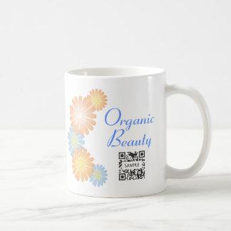 Organisk skönhet för kaffemuggmall vit mugg