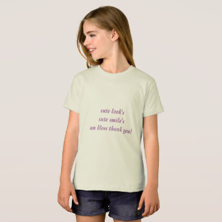 organisk t-skjorta för flickaamerikandräkt tee
