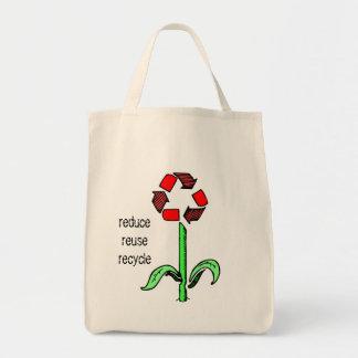 Organisk toto för återvinnablomma tygkasse