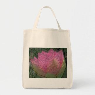 Organisk toto för lotusblomma mat tygkasse