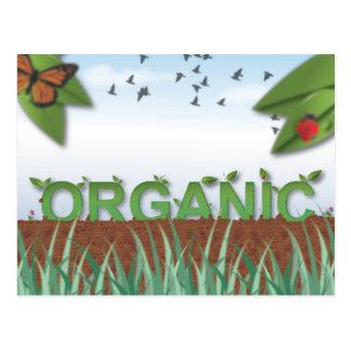 Organisk typografi vykort