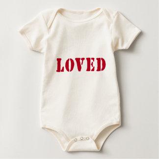 Organiskt älskat frimärke body för baby