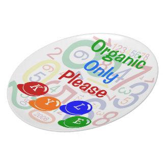 Organiskt behaga endast tallrik