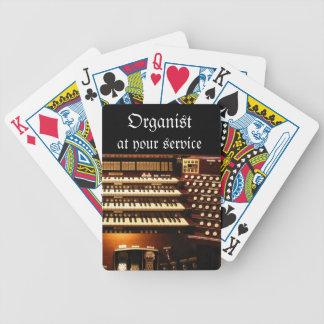 Organist på dina tjänste- leka kort spelkort