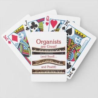Organists är underbara leka kort spelkort