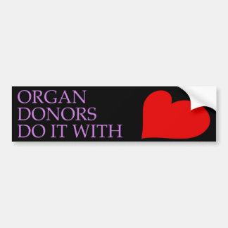 Organoljedoseringar gör det med hjärtabildekal bildekal
