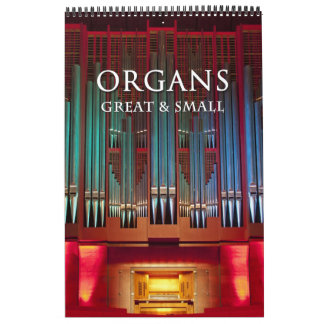 Organunderbar och liten kalenderlodrät kalender