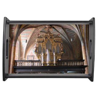 Orgel Pfarrkirche St.Wolfgang förmiddag Serveringsbricka