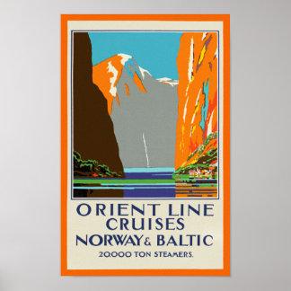 Orient fodrar kryssning~-norge & baltiskt poster