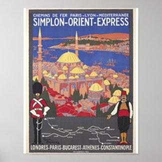 Orient som är uttrycklig till Constantinople Poster