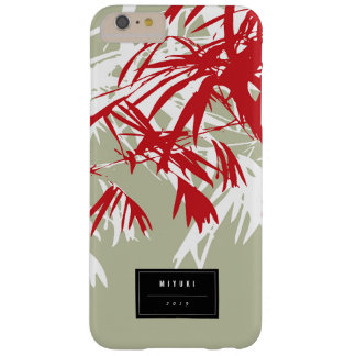 Orientalisk asiatisk kinesisk röd bambu lämnar barely there iPhone 6 plus fodral