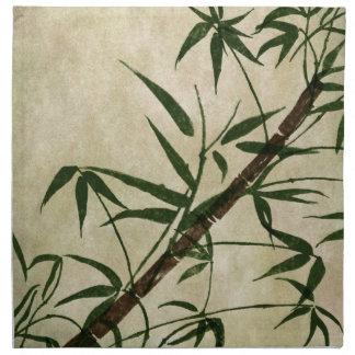Orientalisk bambu 1 för vintage tygservett