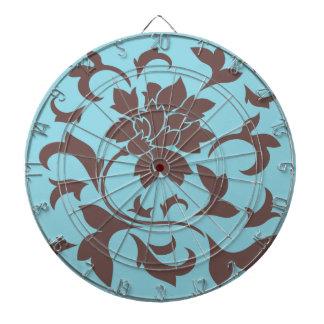 Orientalisk blomma - choklad & pastellfärgad blått piltavla