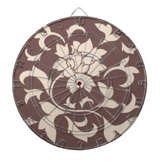 Orientalisk blomma - kaffeLatte choklad Darttavla
