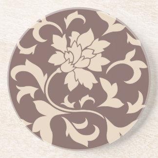 Orientalisk blomma - kaffeLatte choklad Underlägg Sandsten