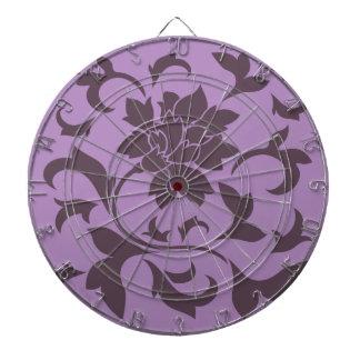 Orientalisk blomma - körsbärsröd choklad & lila darttavla